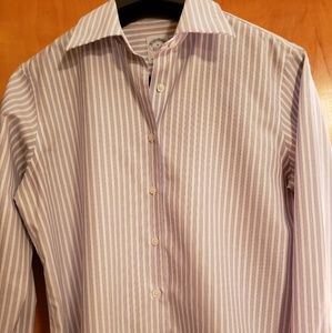 ⭐Brooks Brothers blue/white pinstripe shirt size 6